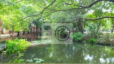 Faculté d'Achitecture Jardin. KMITL, Ladkrabang, Bangkok, Thaïlande.