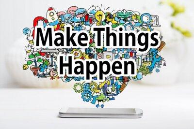 Image Faire des choses Happen concept avec smartphone