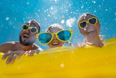 Image Family having fun on summer vacation