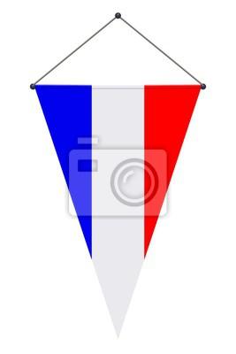 Fanion Bleu Blanc Rouge France Peintures Murales Tableaux