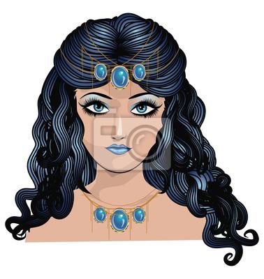 Fantaisie bleu fille aux cheveux