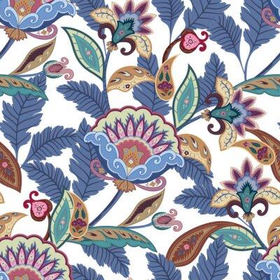 Image Fantaisie, fleurs, seamless, Paisley, modèle Ornement floral, pour tissu, emballage, papier peint