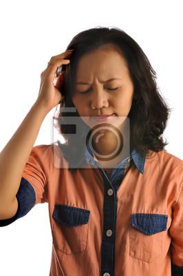 Femme asiatique Obtenir Headache
