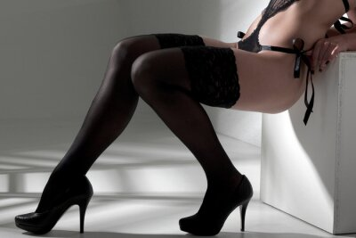 Image Femme aux jambes sexy bas spectacles
