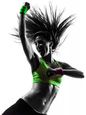 Image femme exerçant Zumba Fitness silhouette de danse