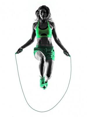 Image femme exercices de fitness Corde à sauter Silhouette