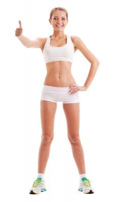 femme isolée porter sportswear