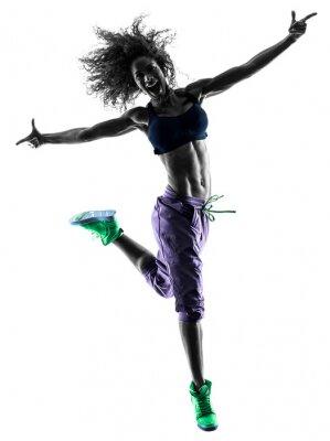 Image femme qui danse zumba danseur exerce silhouette