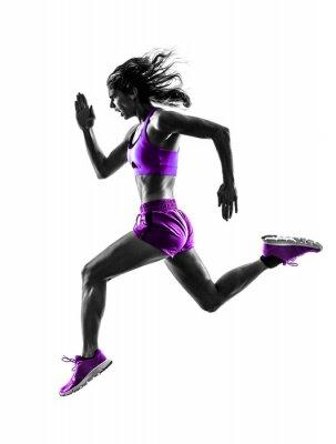 Image femme runner running silhouette joggeuse