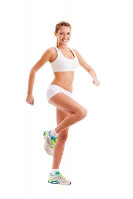 femme sportive sur blanc