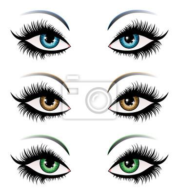 Femme yeux de couleur différente