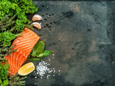 Image Filet de saumon aux herbes et aux épices