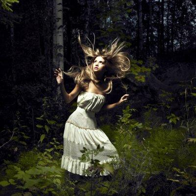 Image Fille dans la forêt de fées