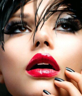 Image Fille de mode d'art Portrait