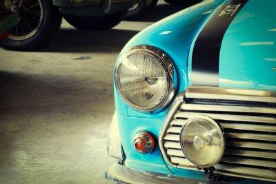 Image Fin, haut, devant, doux, vert, vendange, voiture