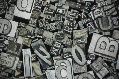 Image Fin, haut, typeset, lettres