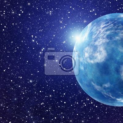 flash blanc de l'espace planète. cosmos un fond de ciel