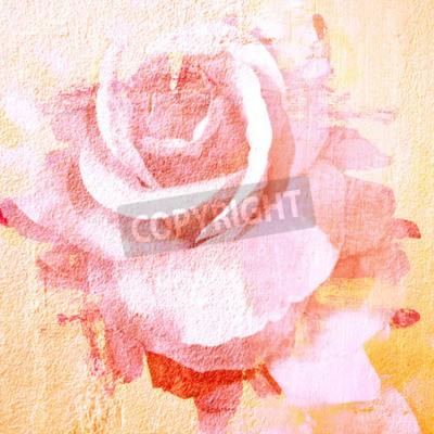 Image Fleur, beau, rose, art, peinture, Illustration, fond