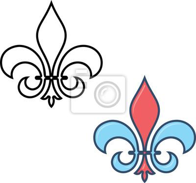 Fleur De Lys Fleur De Lys Ou Fleur De Luce Le Lys Stylise