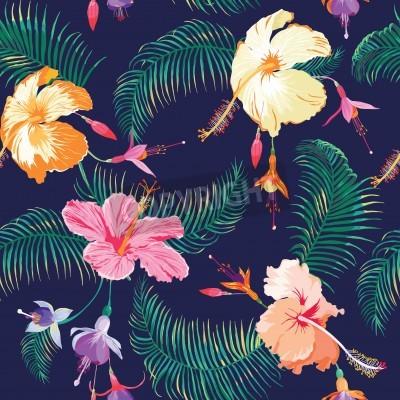 Image Fleur tropicale fond - Seamless Vintage - dans le vecteur