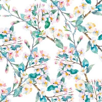 Image Fleurs printanières. Aquarelle. Vecteur.
