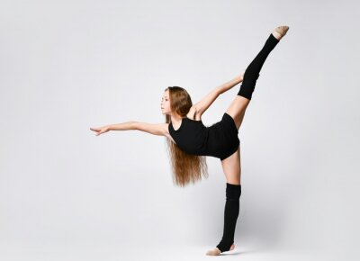 Image Flexible skinny girl posing in vertical split