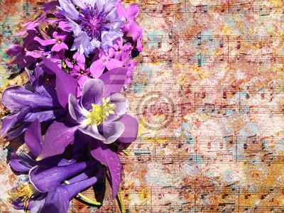 Floral Vintage Fleur Fond Fond Nature Texture Papier Papier Peint
