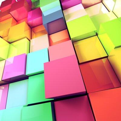 Image fond abstrait de cubes colorés