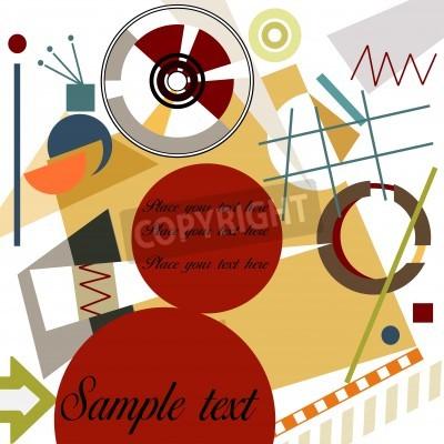 Image Fond abstrait géométrique; Maître de style Kandinsky