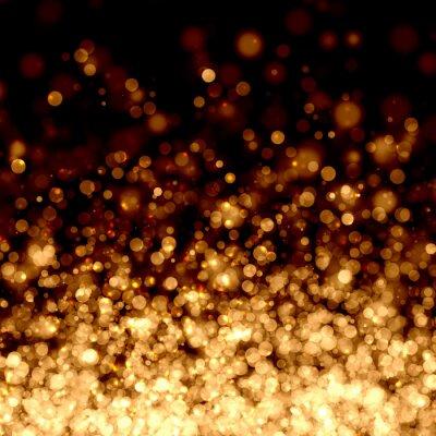 Fond abstrait or et de lumière