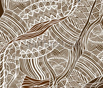 Image Fond africain dans le style ethnique de peint à la main