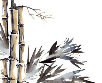 Image Fond avec du bambou