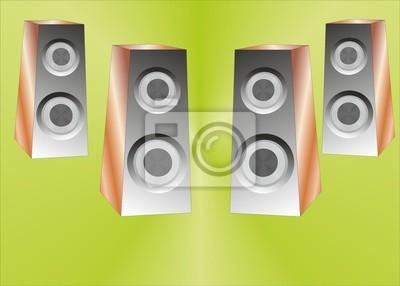 Fond avec speakeres