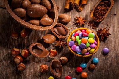 Image Fond chocolat de Pâques