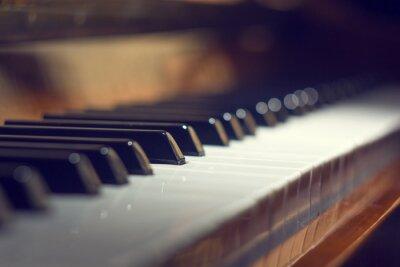 Image Fond clavier piano avec mise au point sélective