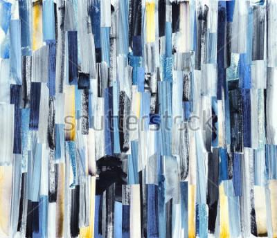Image Fond d'art abstrait avec des rayures multicolores et des sarcelles. Texture d'encre sur papier
