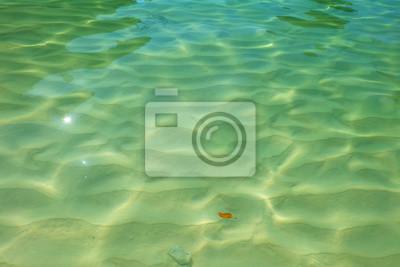 Fond d'eau, île, plage.