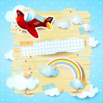 Image Fond d'imagination avec l'avion