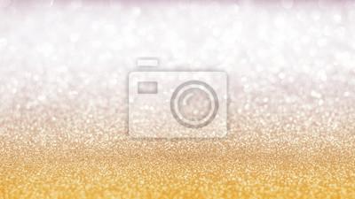 Image Fond De Bokeh De Paillettes Argent Or Flou Avec Lumière Pétillante