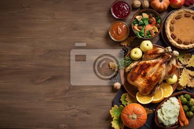 Image Fond de dîner de Thanksgiving