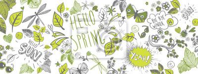 Image Fond de doodles de printemps