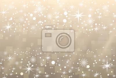 Fond de Noël. Flocons de neige et étoiles