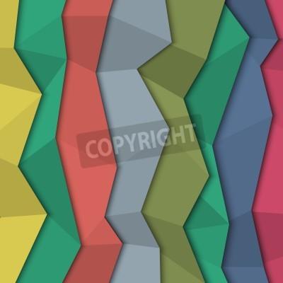 Image Fond de papier de couleur 3d - style origami.