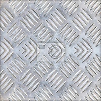 Image Fond De Plaque De Diamant En Métal De Couleur Argent