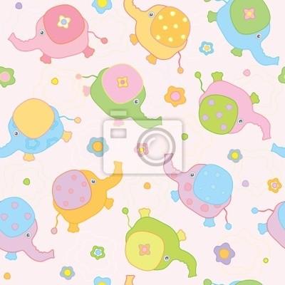 Fond mignon, petits éléphanteaux