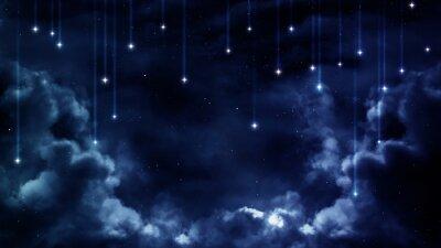 Image Fond paisible, ciel bleu nuit. Éléments fournis par la NASA