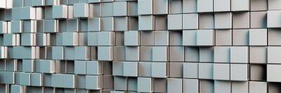 Image Fond panoramique de cubes gris