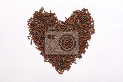 Forme coeur chocolat arrose