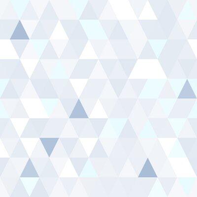 Image Forme triangulaire chatoyante motif bleu sans soudure. Géométrique, brillant, fond