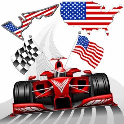 Image Formule 1 voiture de course GP Austin États-Unis